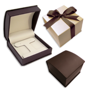 Chocolate & Beige Leatherette Gift Boxes