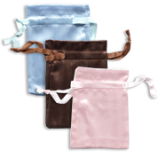 Two Tone Satin Drawstring Pouches
