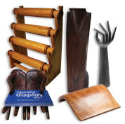 Wood Jewelry Displays, Stands and Busts