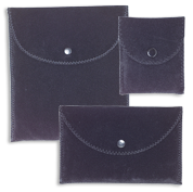Deluxe Suede Envelope Pouches with Buttons