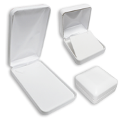 White Leatherette Jewelry Gift Boxes